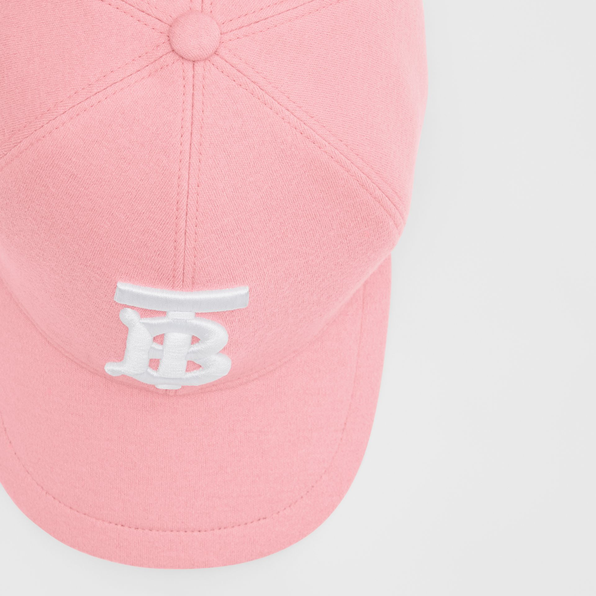 Monogram Motif Jersey Baseball Cap in Pink | Burberry United Kingdom - gallery image 1