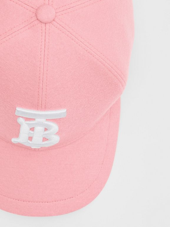 Monogram Motif Jersey Baseball Cap in Pink | Burberry United Kingdom - cell image 1