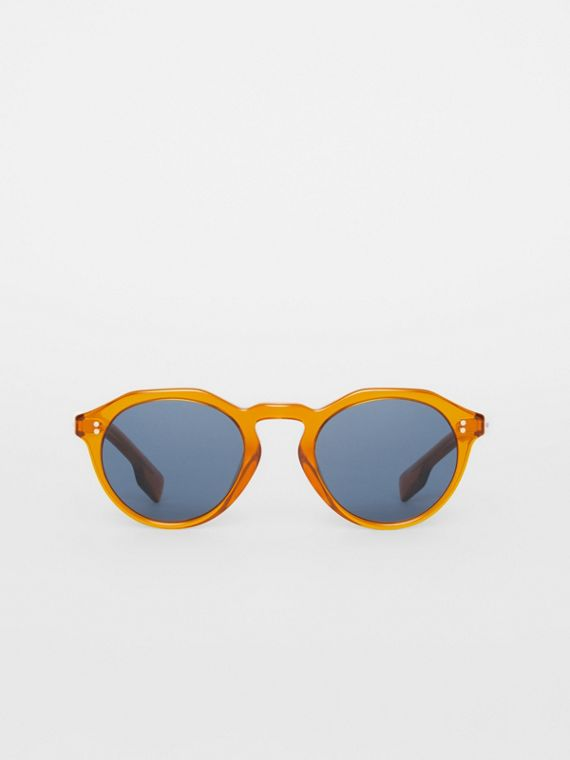 Keyhole Round Frame Sunglasses in Orange