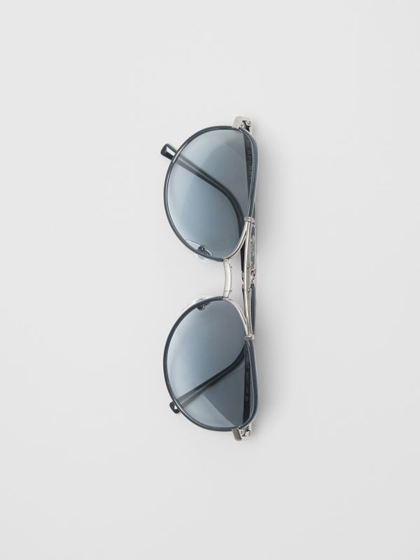 Folding Pilot Sunglasses in Navy - Men | Burberry - cell image 3