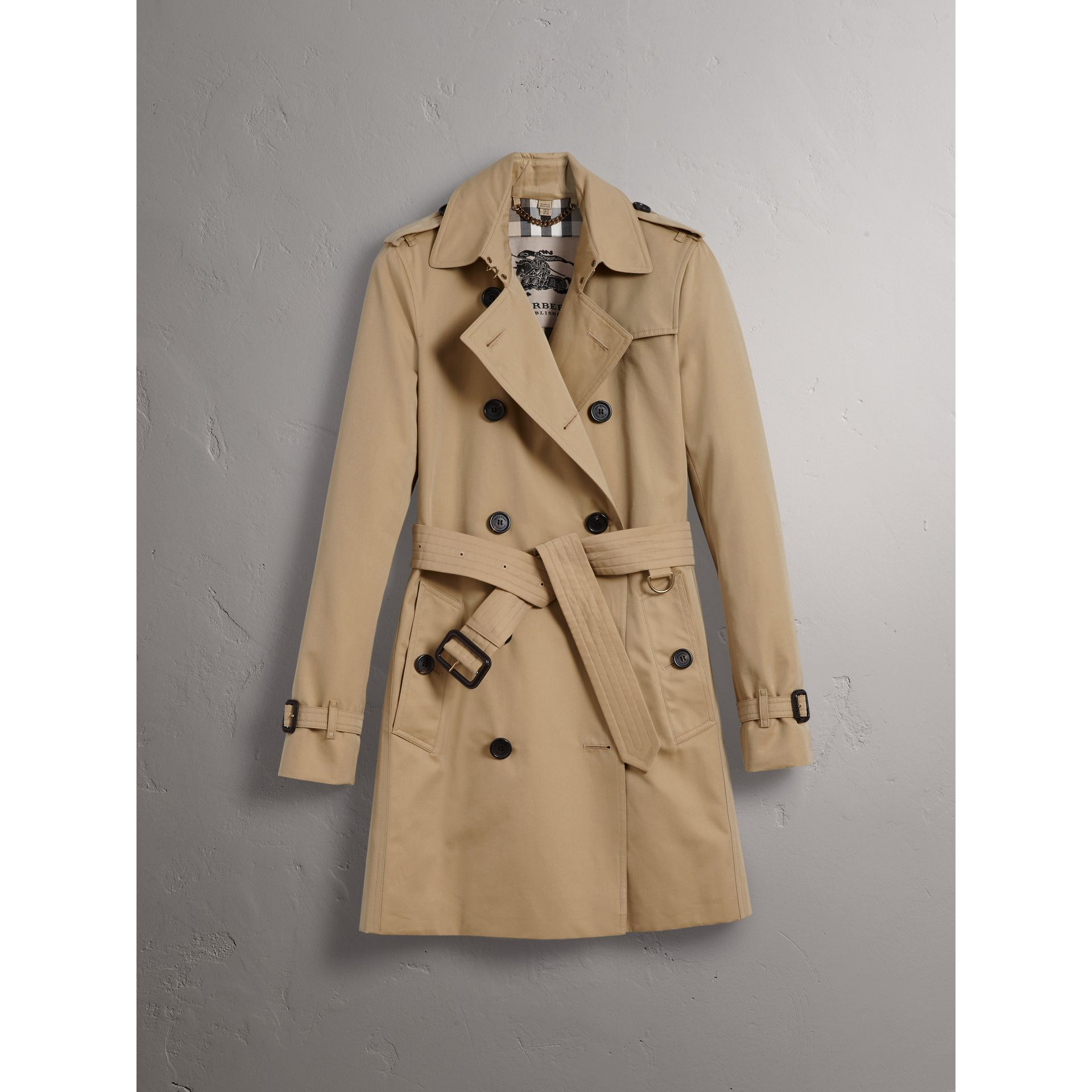 The Kensington – Mid-length Trench Coat in Honey - Women | Burberry Canada - gallery image 4