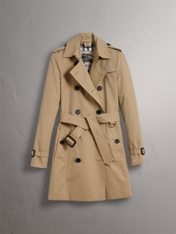 The Kensington – Mid-Length Heritage Trench Coat in Honey - Women | Burberry Australia - cell image 3