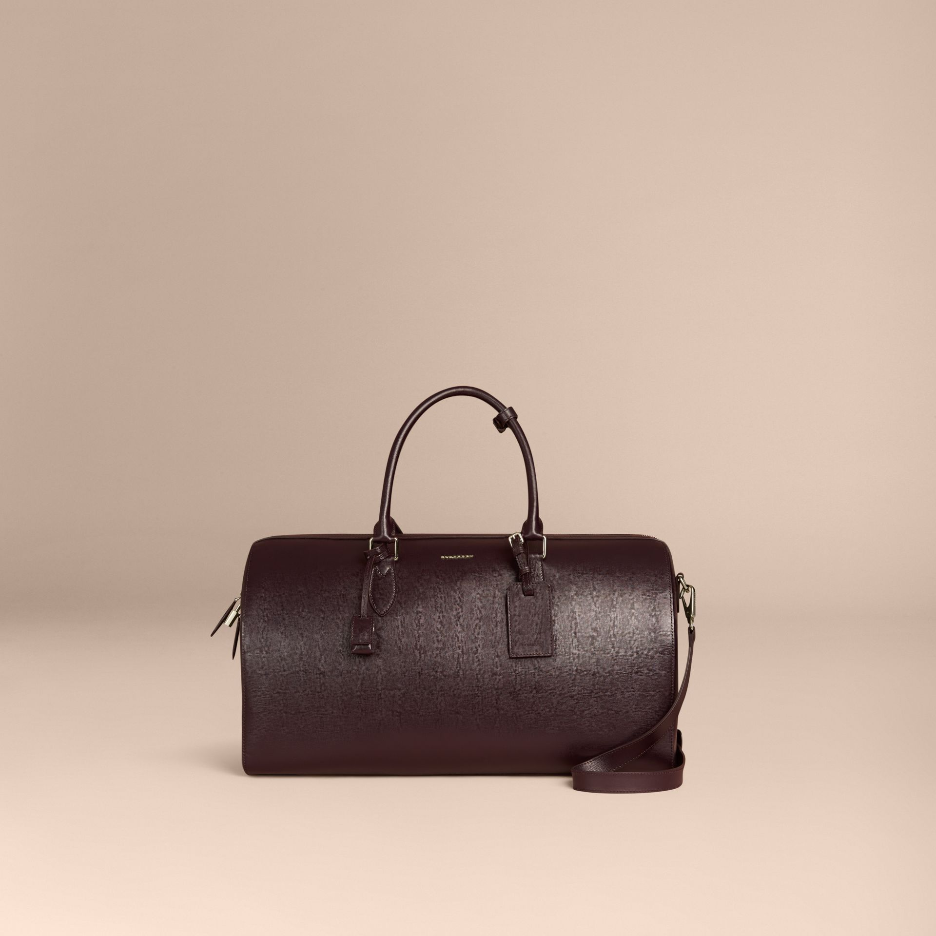 Wine London Leather Holdall - gallery image 7