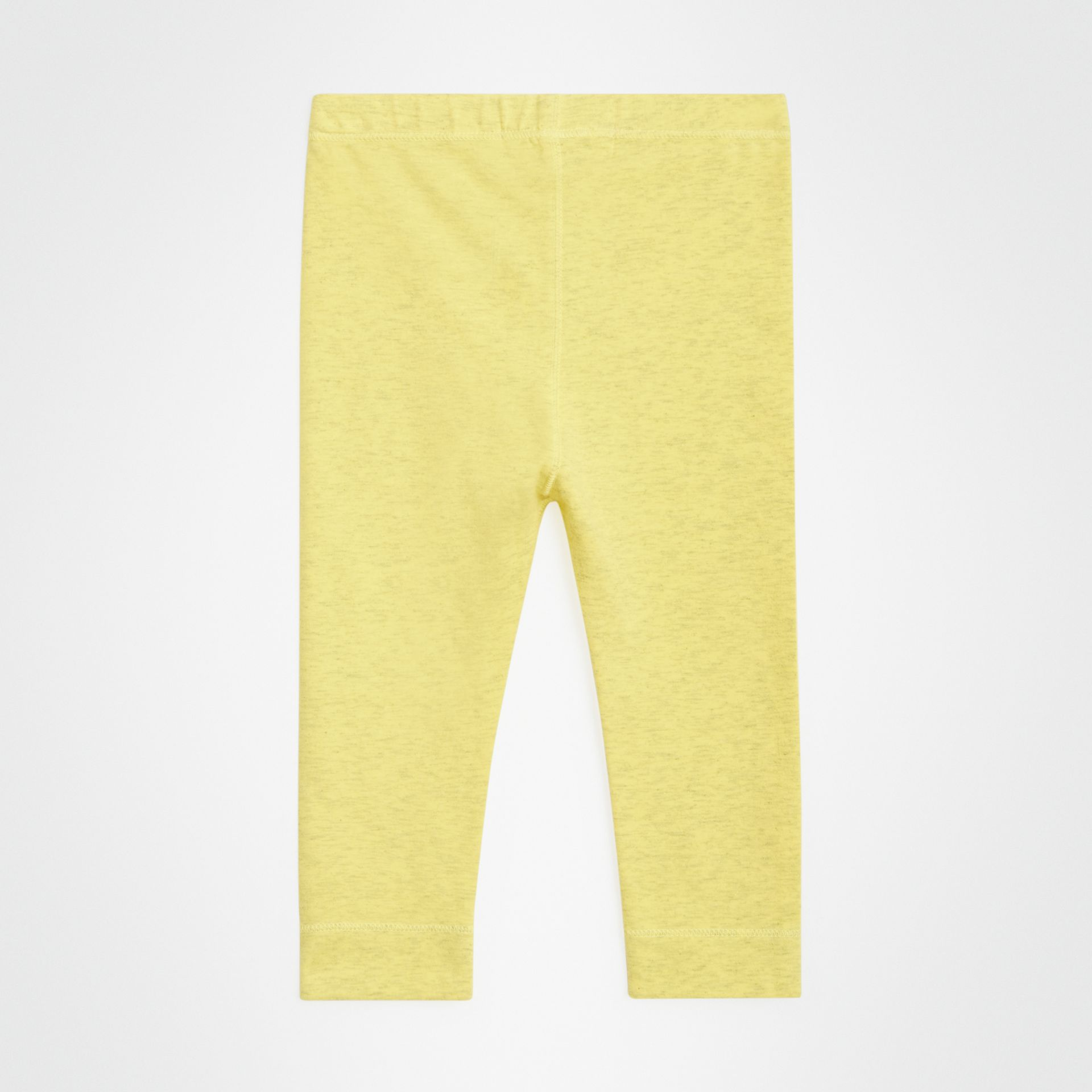 Logo Print Stretch Jersey Leggings in Citrus Yellow - Children | Burberry - gallery image 3