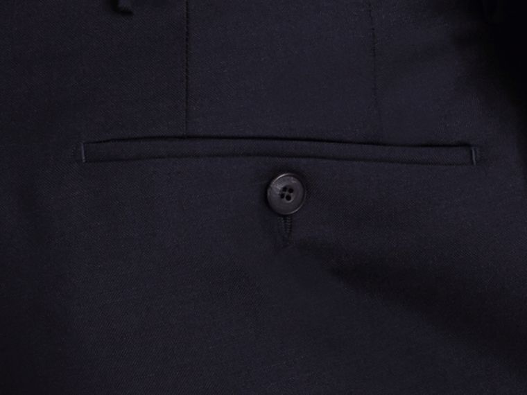 Modern Fit Wool Mohair Trousers True Navy - cell image 1