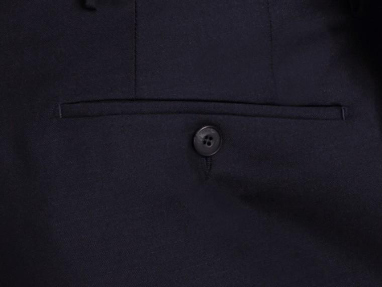 Pantaloni dal taglio moderno in lana e mohair Vero Navy - cell image 1