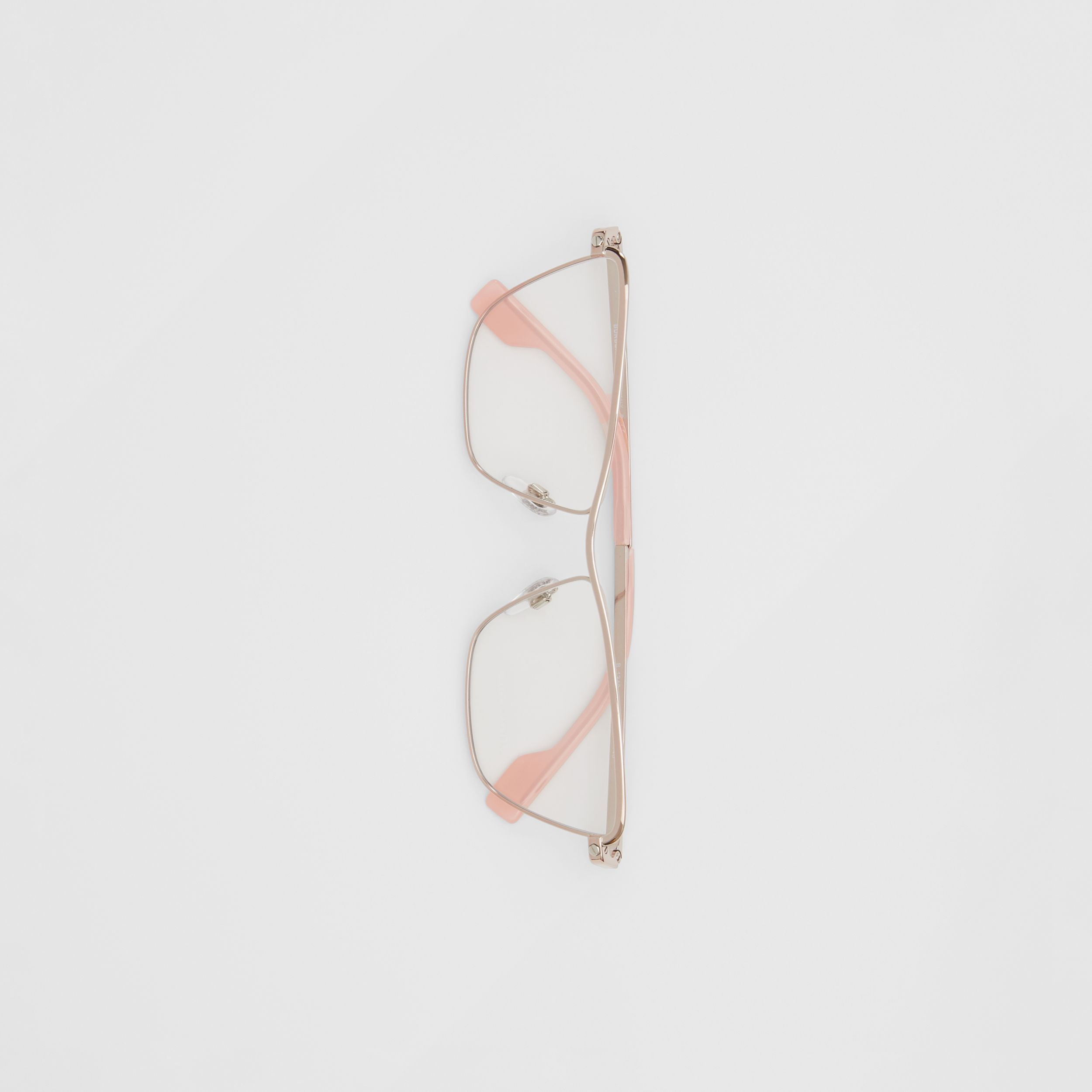 Rectangular Optical Frames in Rose Gold - Women | Burberry - 4