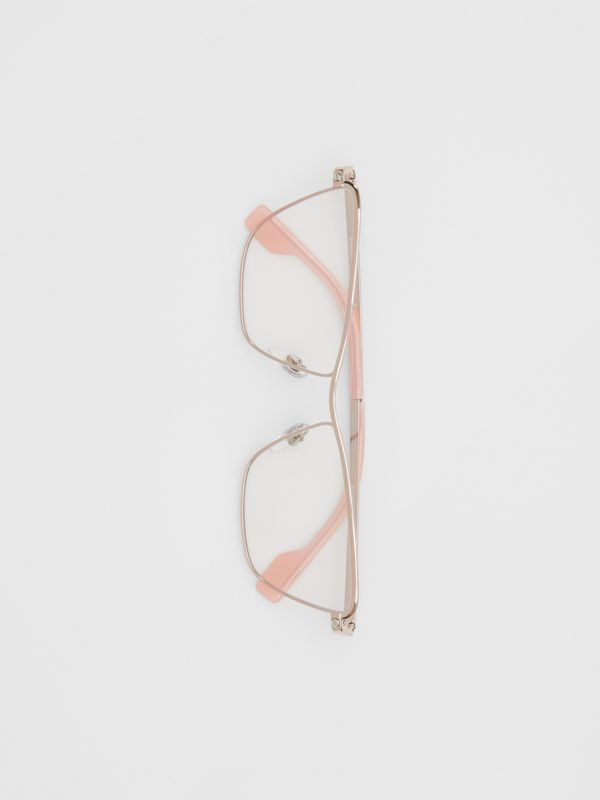 Rectangular Optical Frames in Rose Gold - Women | Burberry Australia - cell image 2
