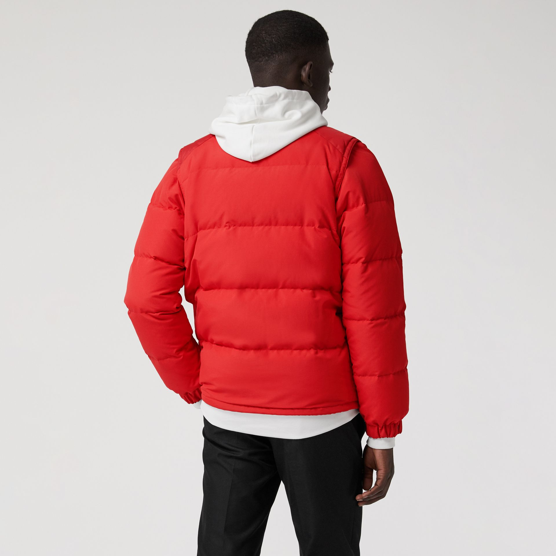 Detachable-sleeve Down-filled Puffer Jacket in Bright Red - Men | Burberry - gallery image 2
