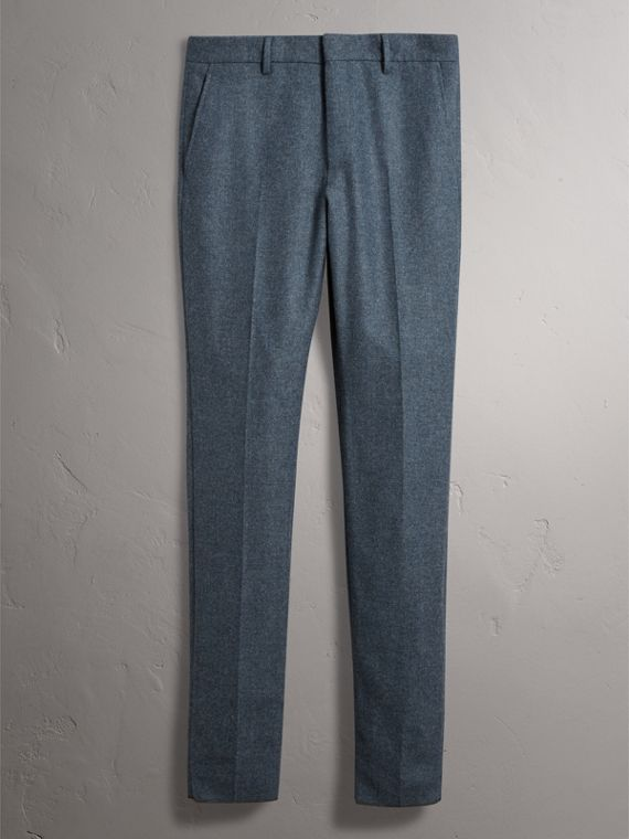 Soho Fit Wool Trousers in Dark Airforce Blue - Men | Burberry - cell image 3