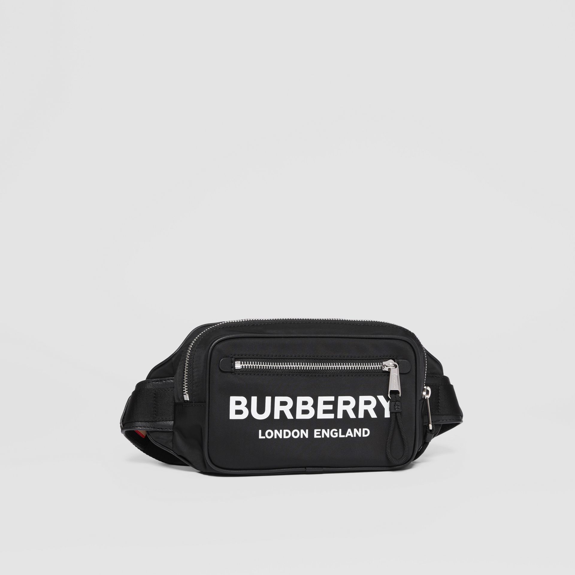 Logo Print Nylon Bum Bag in Black | Burberry - gallery image 6