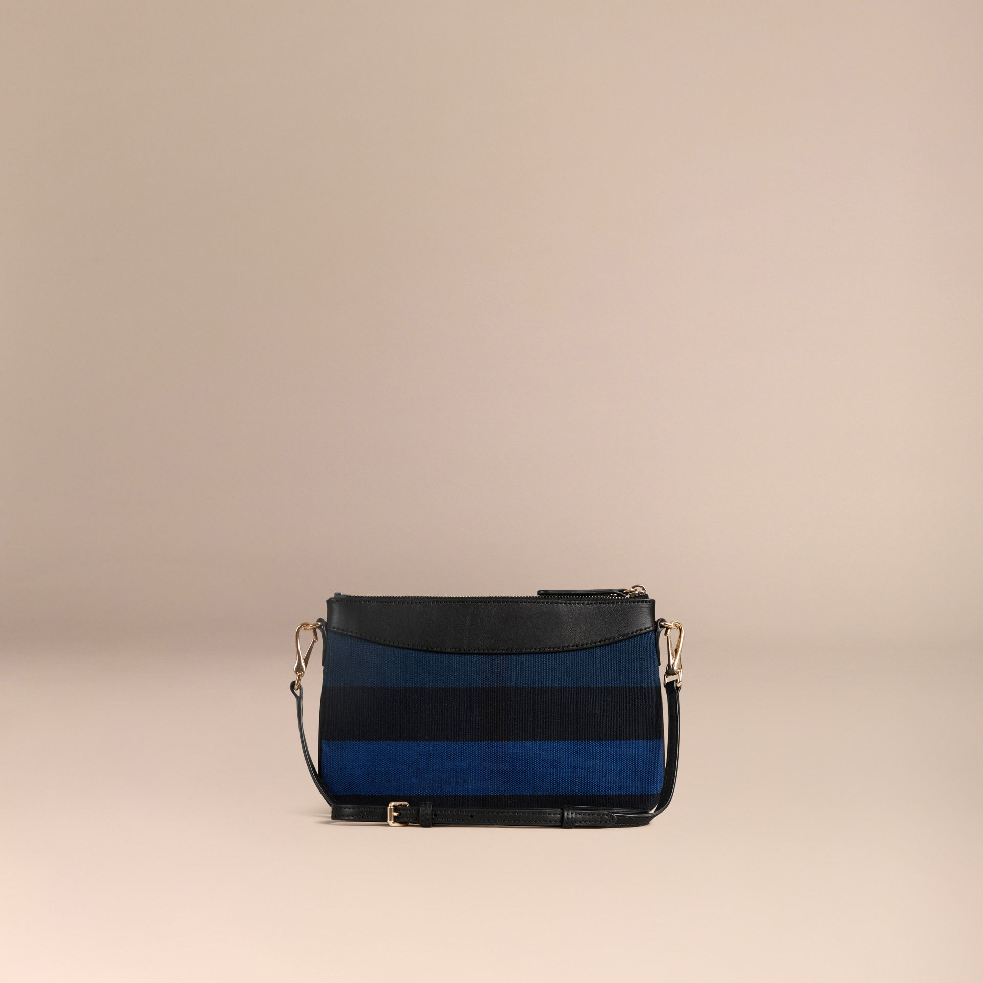 Ultramarine blue Canvas Check Clutch Bag Ultramarine Blue - gallery image 5