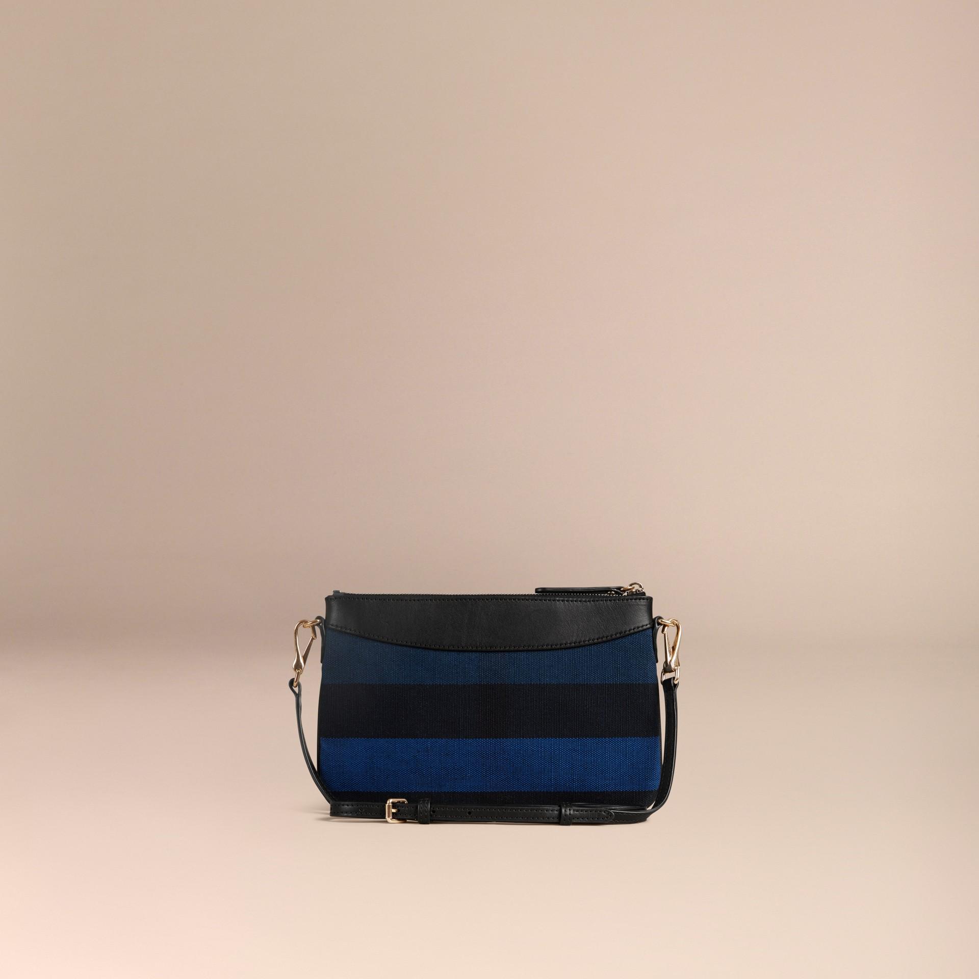 Bleu ultramarine Clutch Canvas check Bleu Ultramarine - photo de la galerie 5