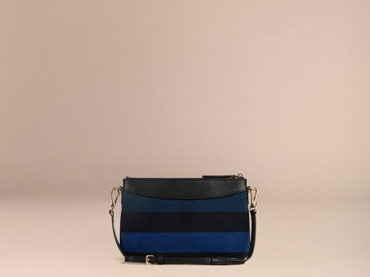 Ultramarine blue Canvas Check Clutch Bag Ultramarine Blue - cell image 4