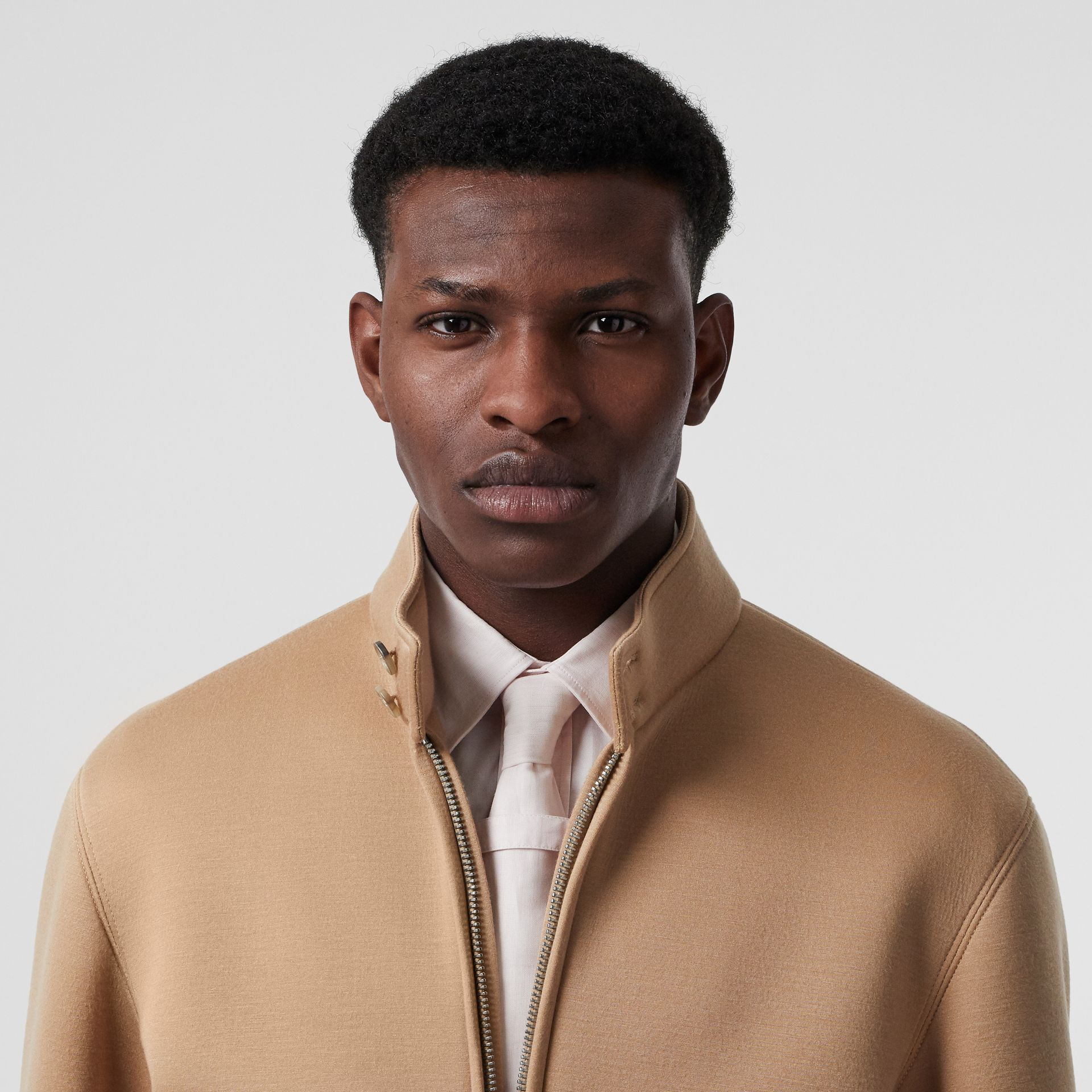 Neoprene Harrington Jacket in Beige | Burberry - gallery image 8