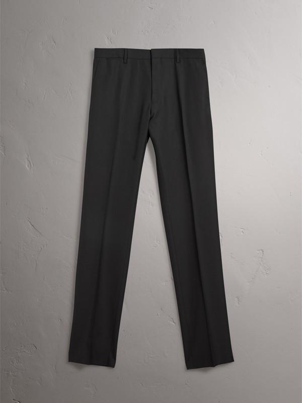 Pantalones de corte moderno en lana (Negro) - Hombre | Burberry - cell image 3