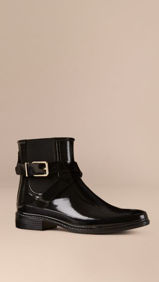 Belted Chelsea Rain Boots
