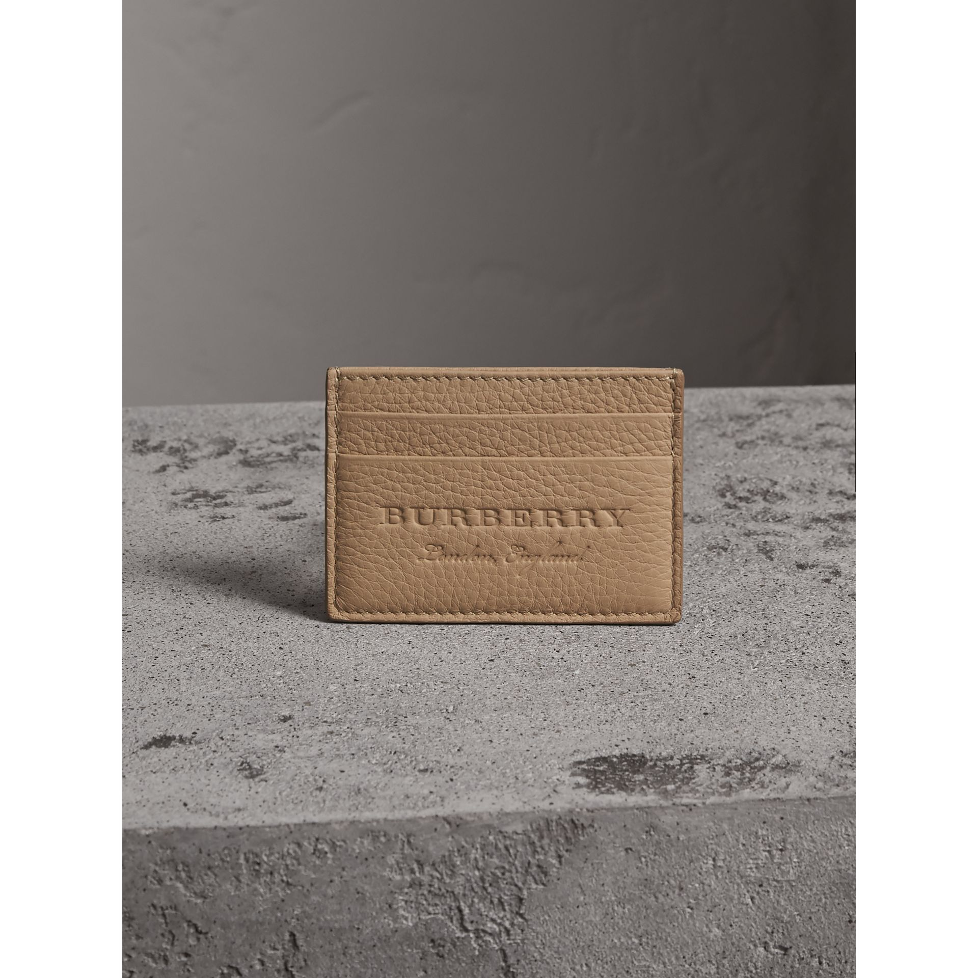 Textured Leather Card Case in Chino - Men | Burberry - gallery image 5