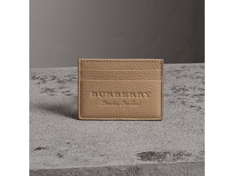 Textured Leather Card Case in Chino - Men | Burberry - cell image 4
