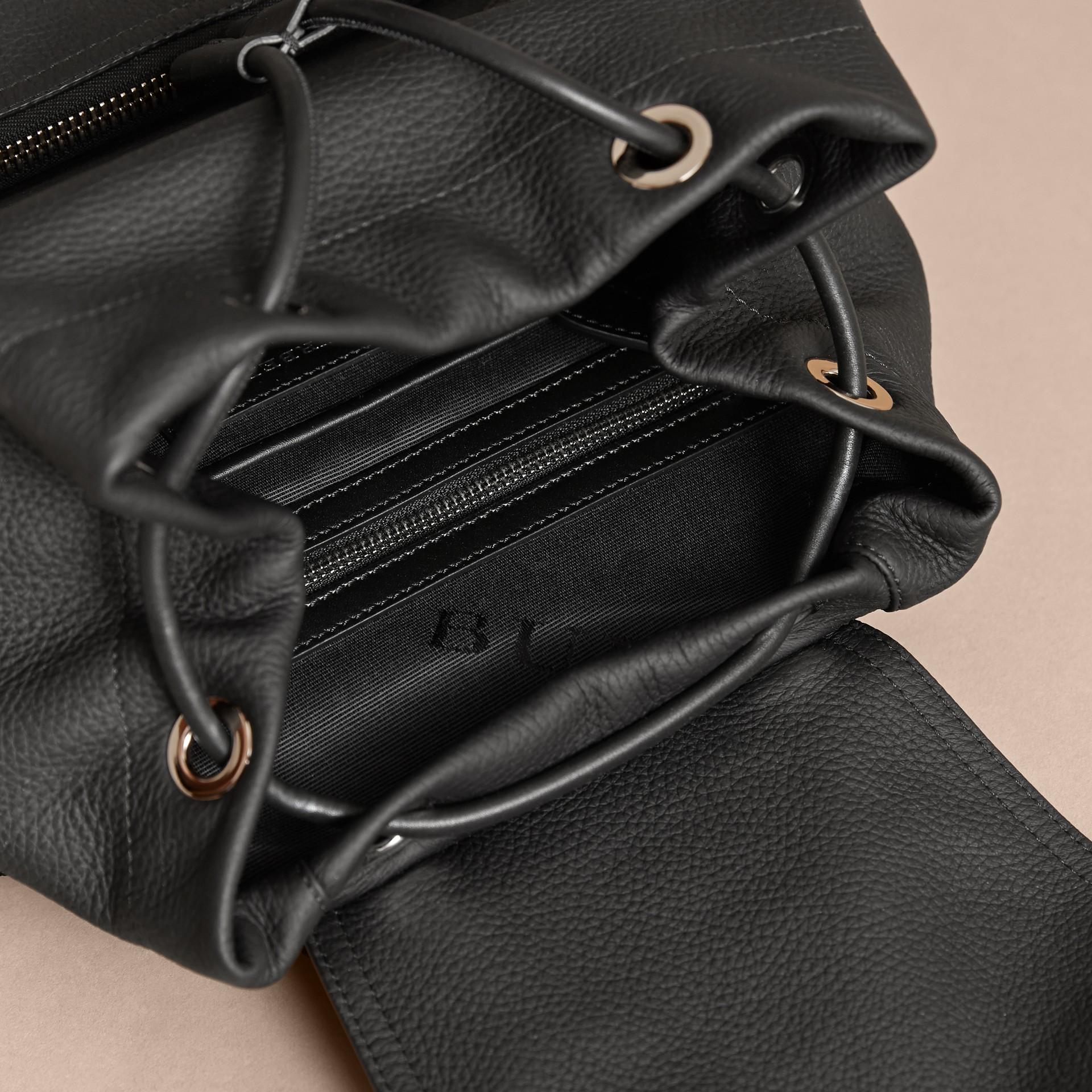 The Medium Rucksack in Deerskin with Resin Chain Black - gallery image 5
