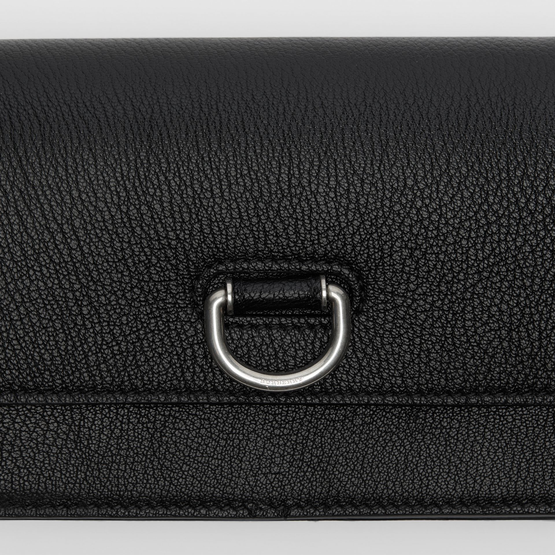 The Mini Leather D-ring Bag in Black - Women | Burberry Canada - gallery image 1