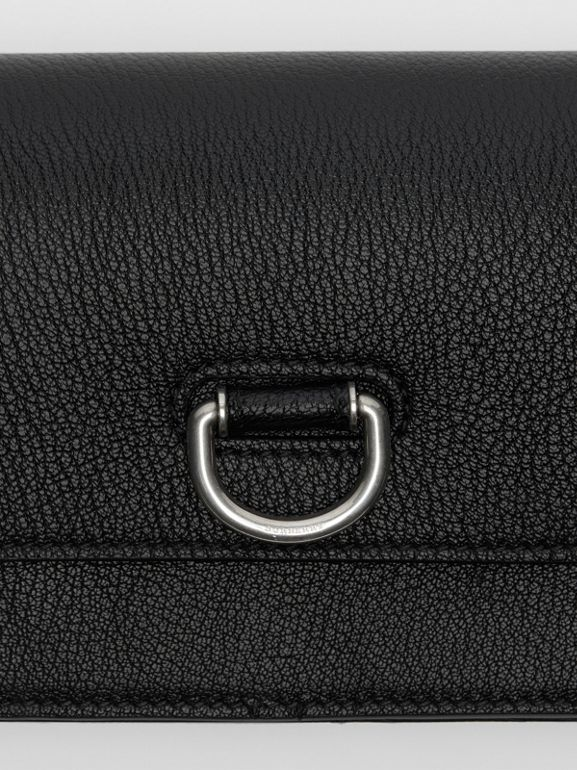 The Mini Leather D-ring Bag in Black - Women | Burberry - cell image 1