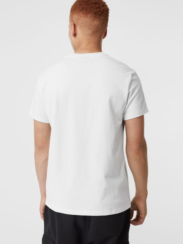 Contrast Crest Cotton T-shirt in White - Men | Burberry - cell image 2
