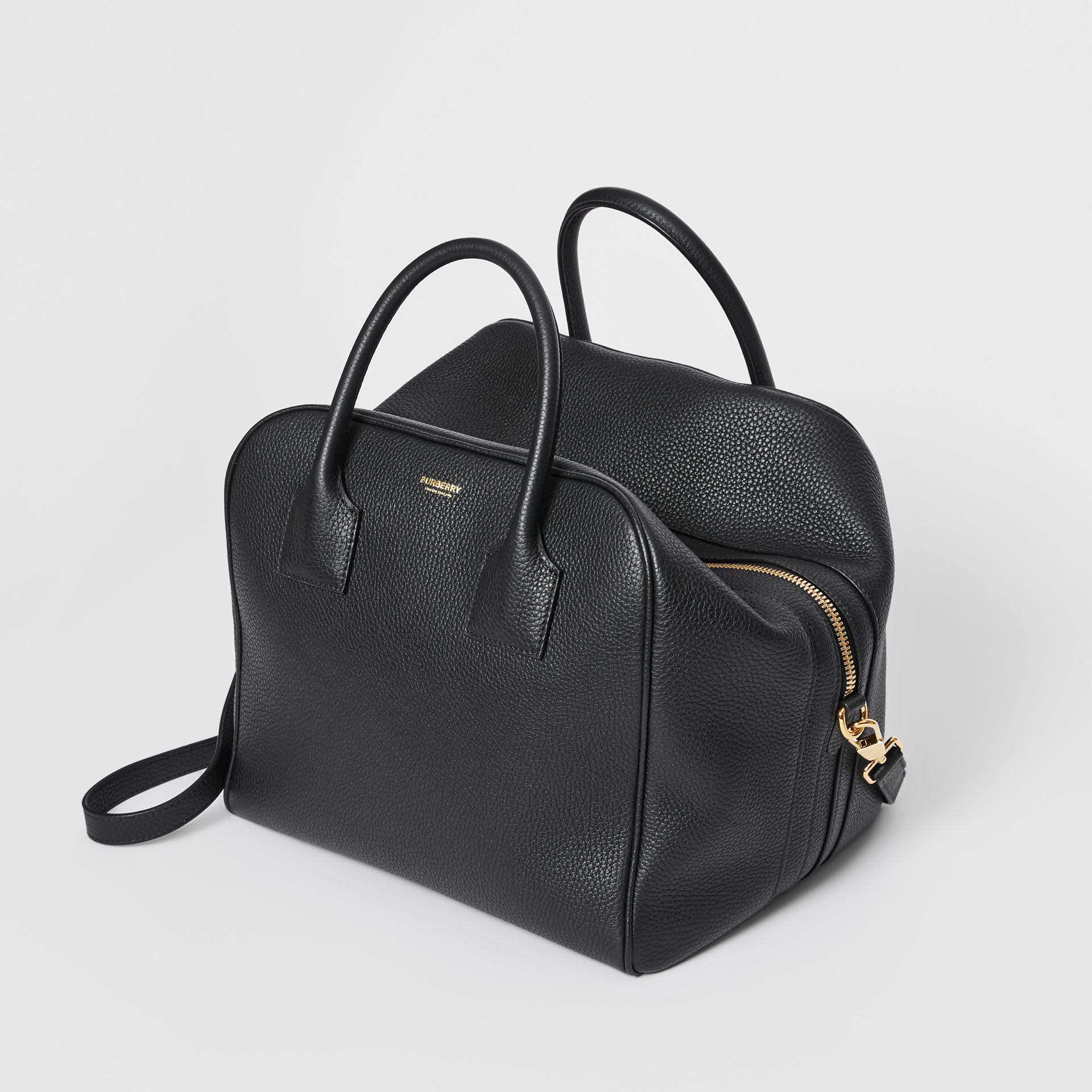 Medium Leather Cube Bag in Black - Women | Burberry Australia - gallery image 3