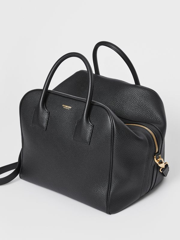 Medium Leather Cube Bag in Black - Women | Burberry Australia - cell image 3
