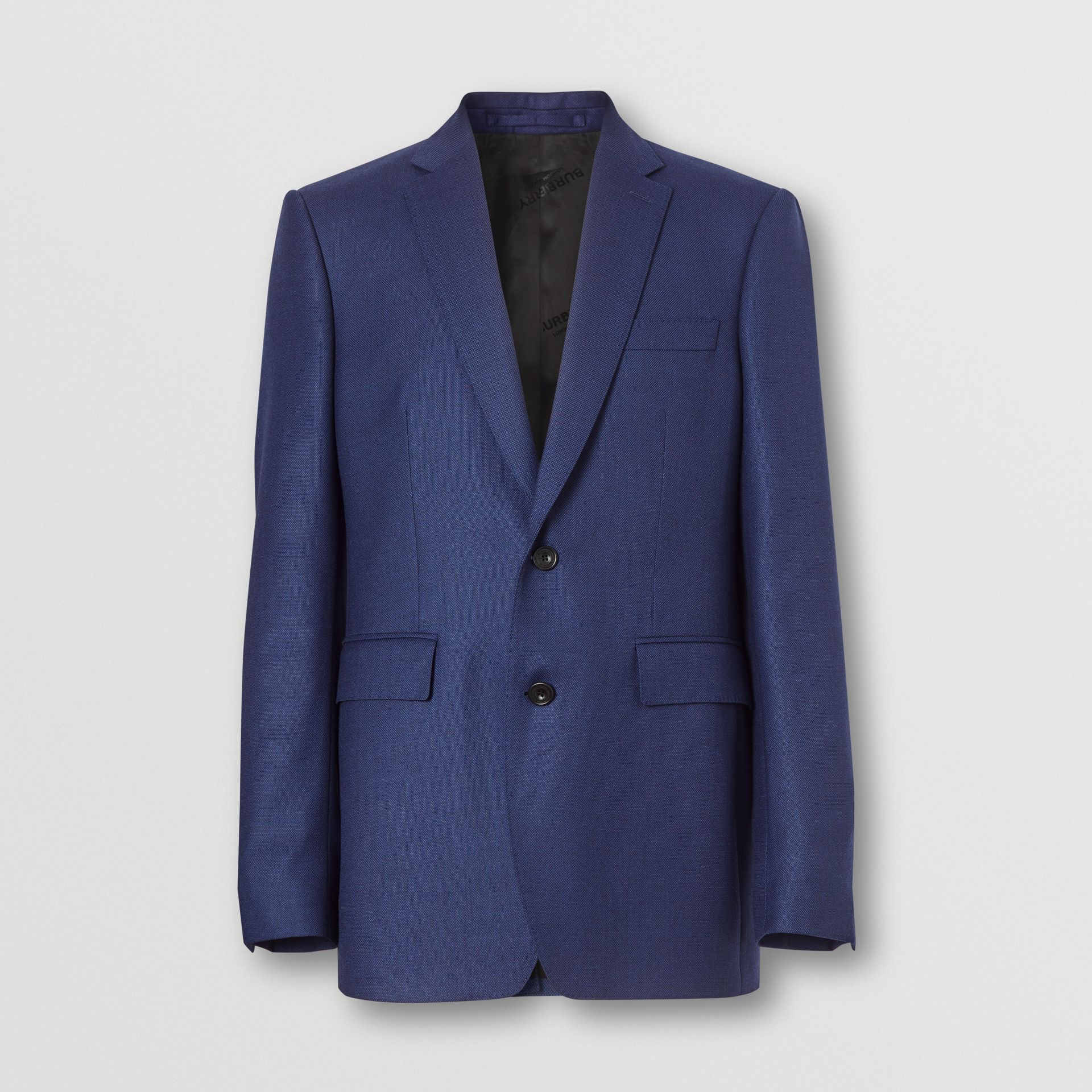 Classic Fit Birdseye Wool Tailored Jacket in Bright Navy - Men | Burberry United Kingdom - gallery image 3