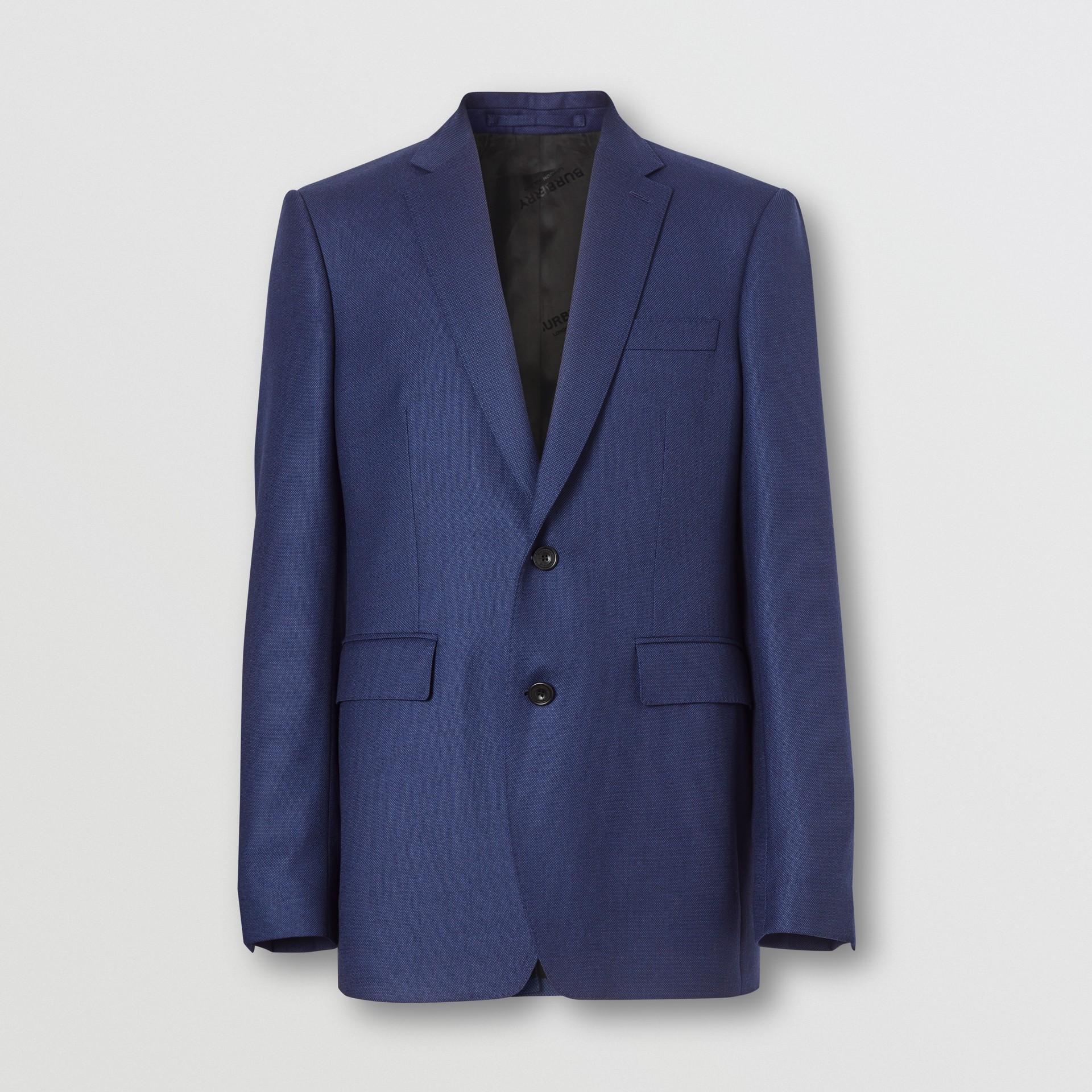 Классический пиджак из шерсти с узором «птичий глаз» (Насыщенный Темно-синий) - Для мужчин | Burberry - изображение 3