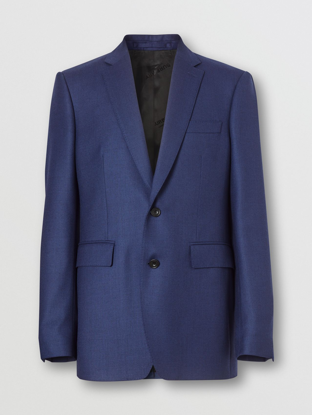 Classic Fit Birdseye Wool Tailored Jacket in Bright Navy