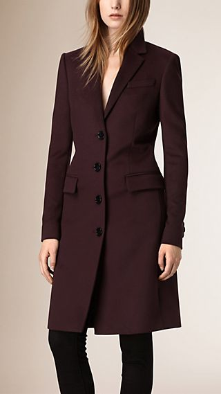 Wool Cashmere Tailored Coat
