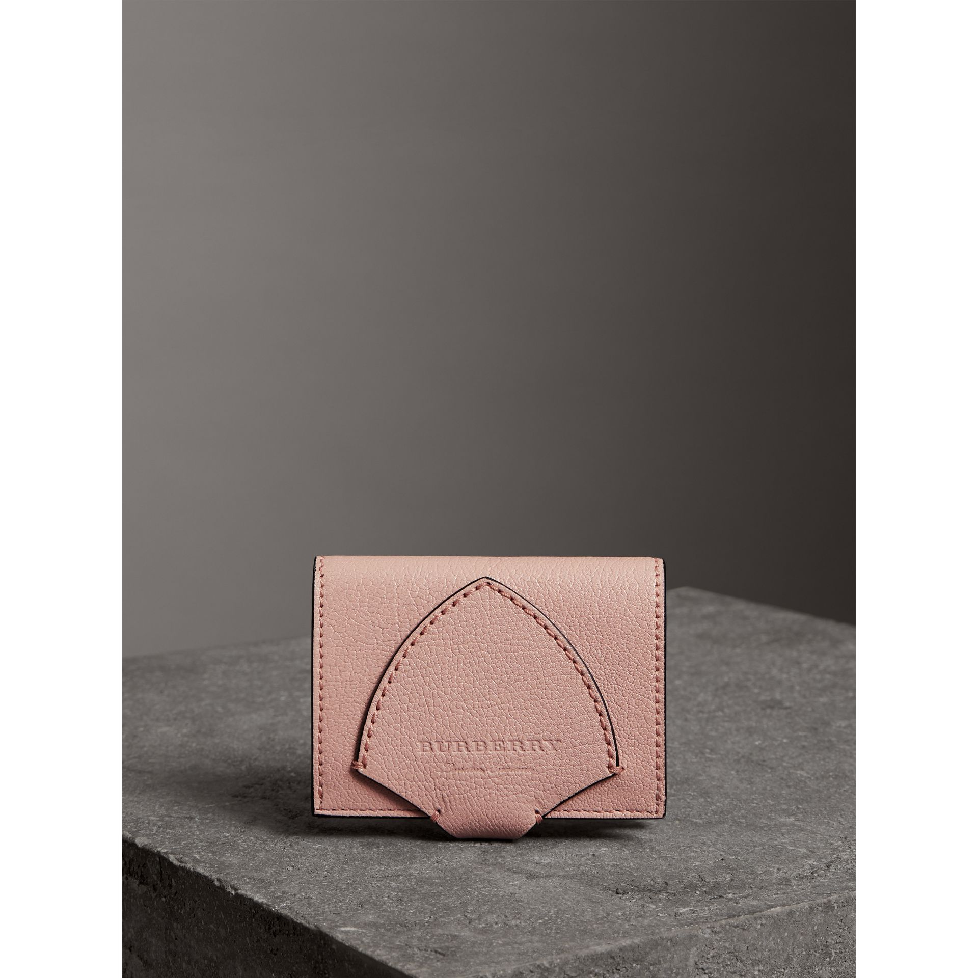 Equestrian Shield Leather Continental Wallet in Pale Ash Rose - Women | Burberry Hong Kong - gallery image 4