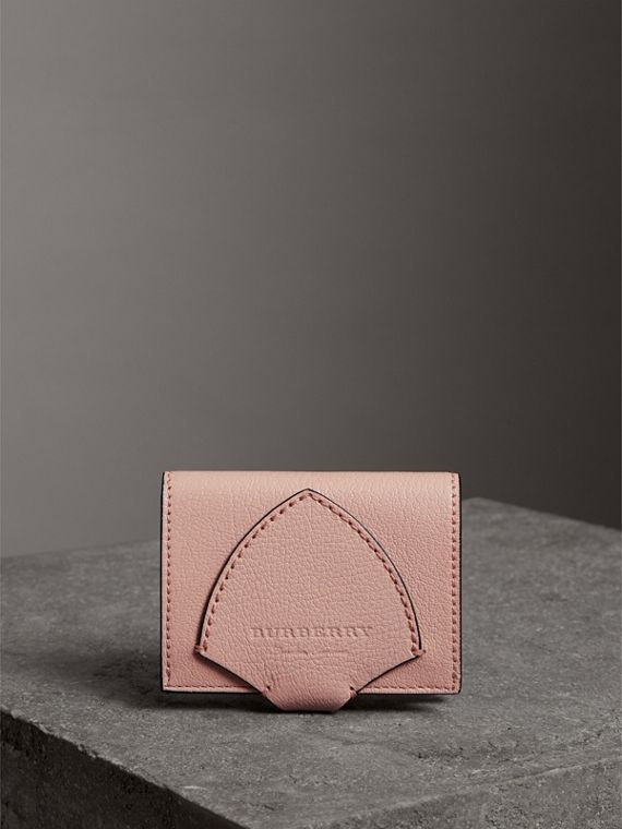Equestrian Shield Leather Continental Wallet in Pale Ash Rose