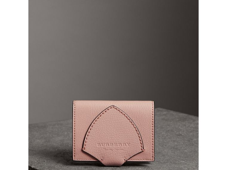 Equestrian Shield Leather Continental Wallet in Pale Ash Rose - Women | Burberry - cell image 4