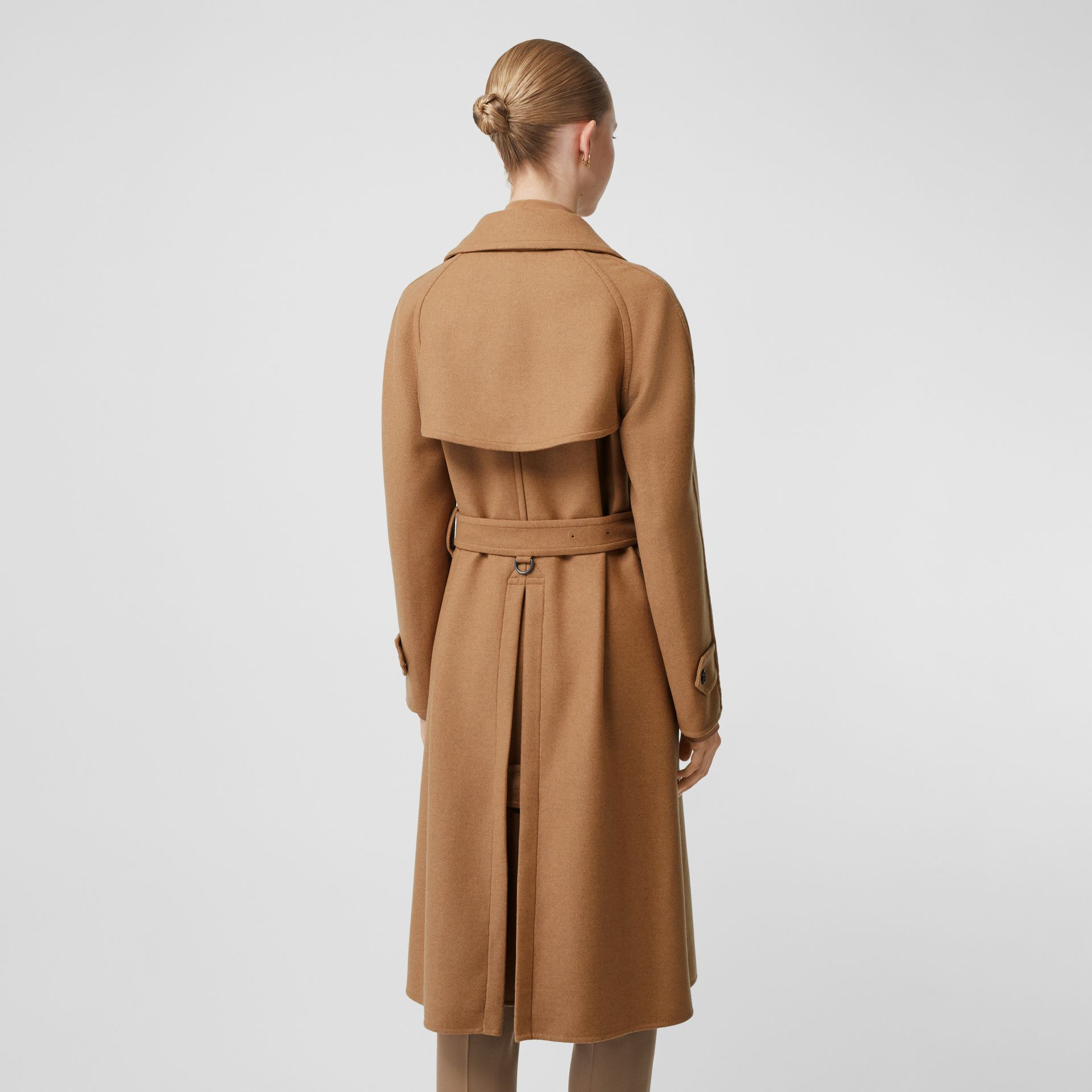 Cashmere Trench Coat in Bronze - Women | Burberry - gallery image 2