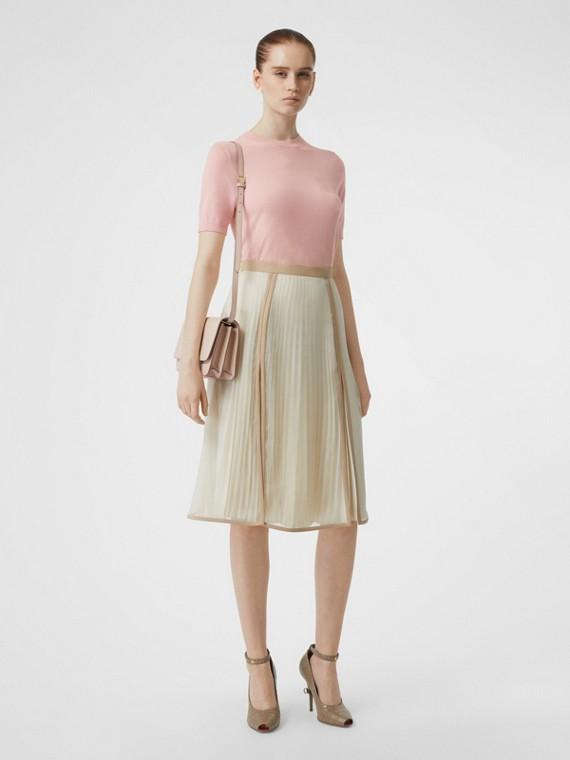 Monogram Motif Cashmere Top in Pink