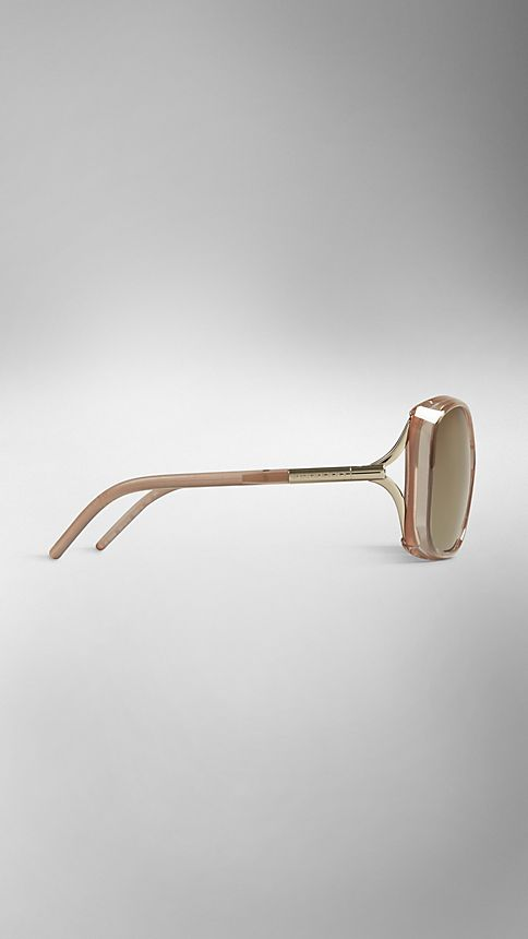 Sepia Trench Collection Oversize Rounded Frame Sunglasses - Image 3