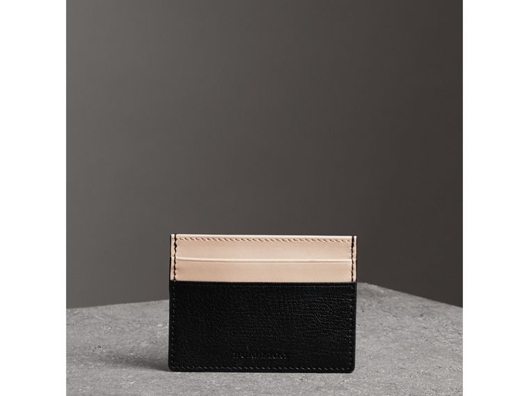 Two-tone Leather Card Case in Black | Burberry - cell image 4