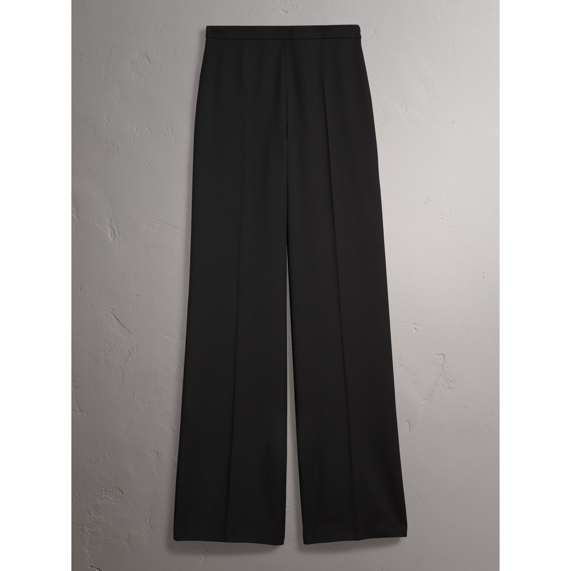 Wool Wide-leg Trousers in Black - Women | Burberry United States - gallery image 3