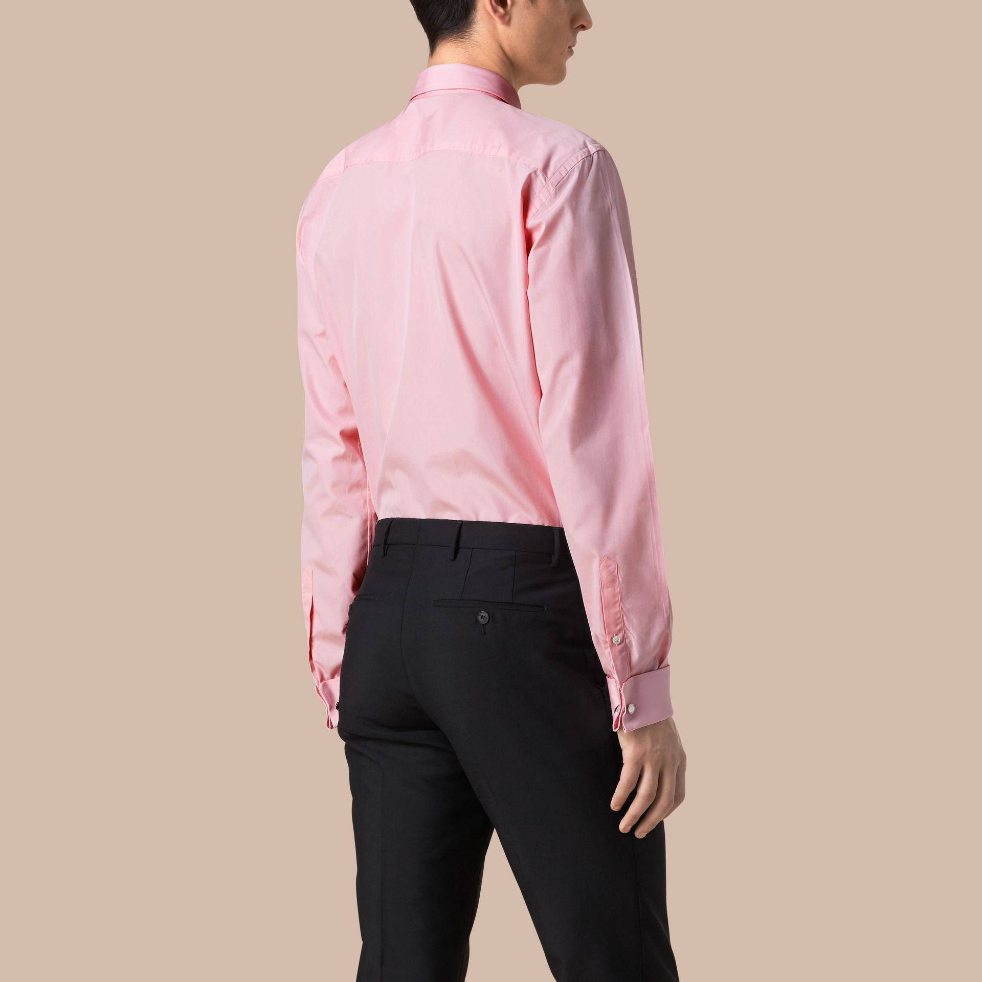 City pink Modern Fit Double-cuff Cotton Poplin Shirt City Pink - gallery image 3