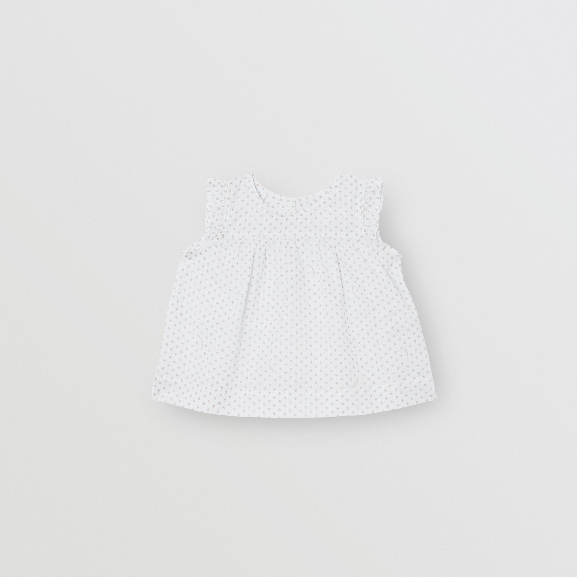 Polka Dot Cotton Three-piece Baby Gift Set in Natural White - Children | Burberry - gallery image 3
