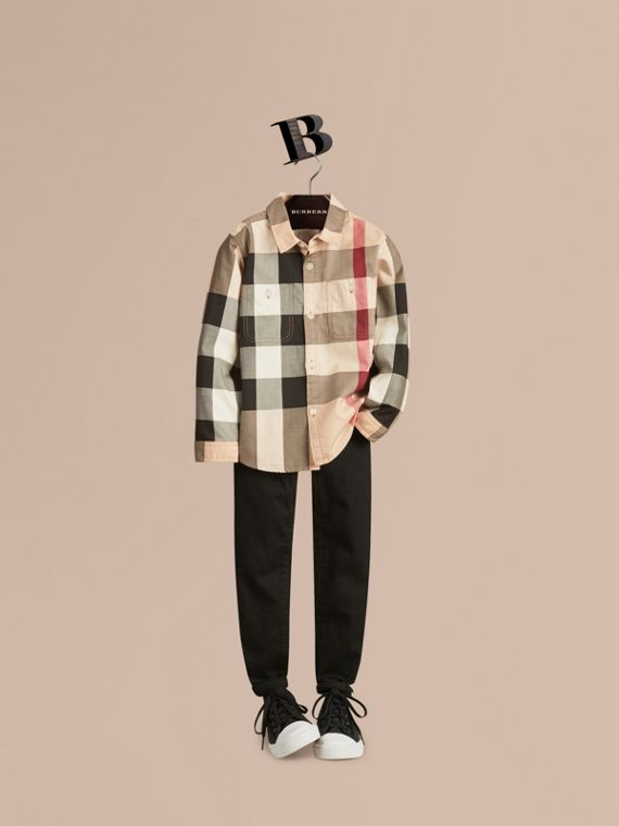 Check Cotton Shirt - Boy | Burberry Australia
