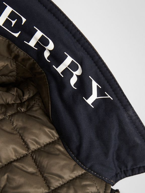 Lightweight Diamond Quilted Jacket in Oregano | Burberry - cell image 1