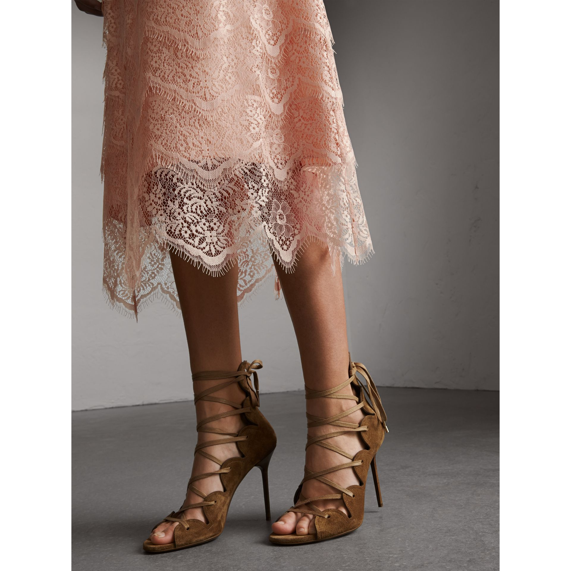 Tiered Lace Shift Dress - Women | Burberry - gallery image 2