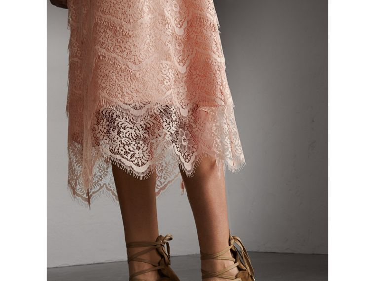 Tiered Lace Shift Dress - Women | Burberry - cell image 1