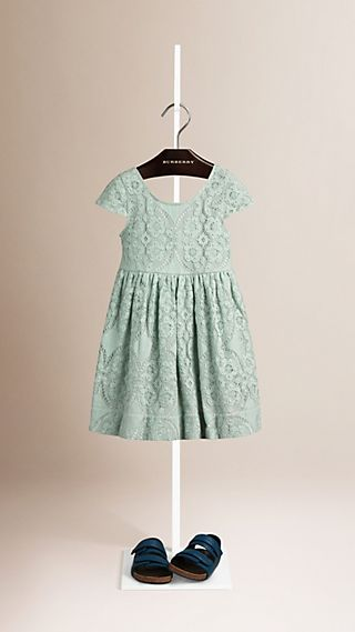Cap Sleeve English Lace Dress