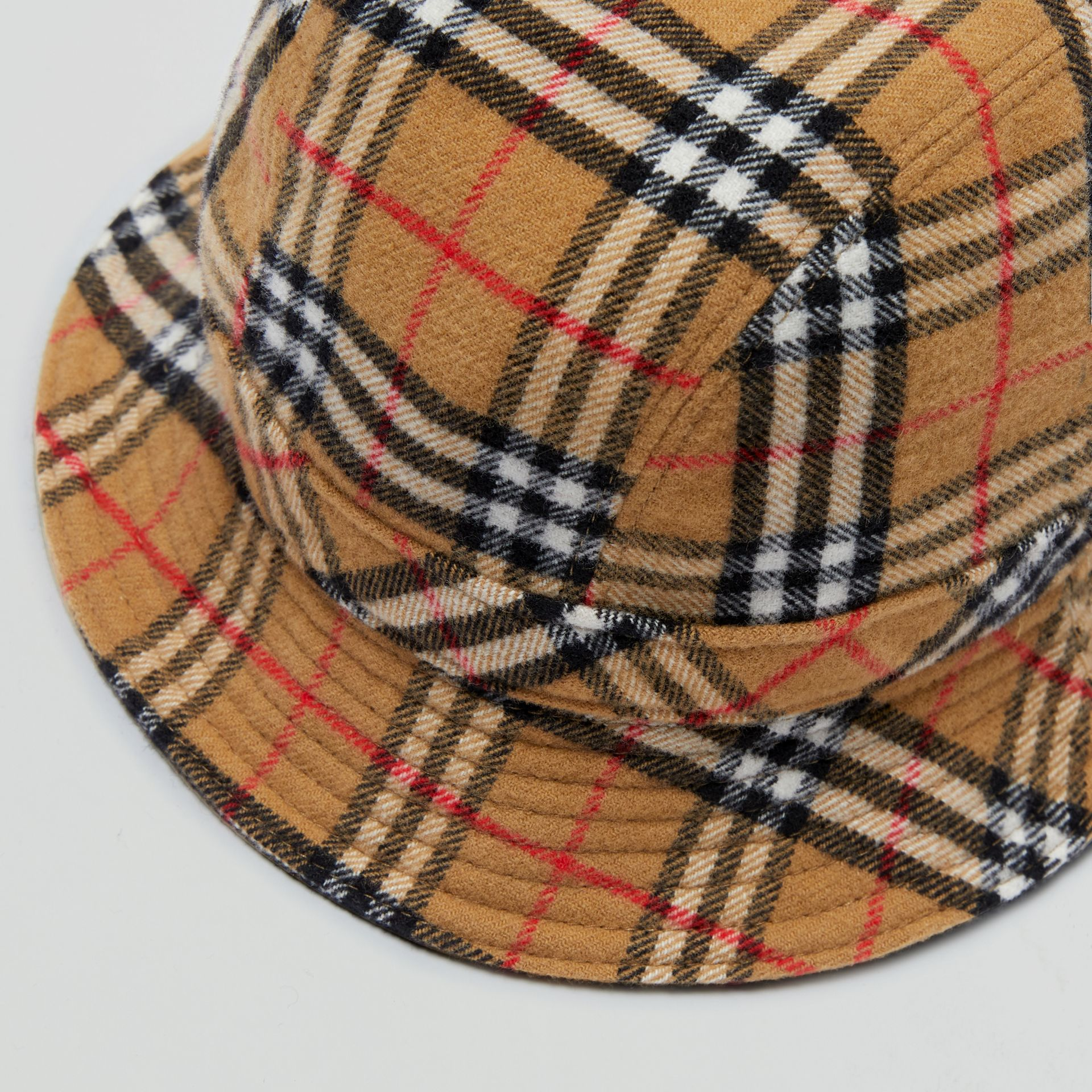 Gosha x Burberry Check Flannel Bucket Hat in Antique Yellow | Burberry - gallery image 6