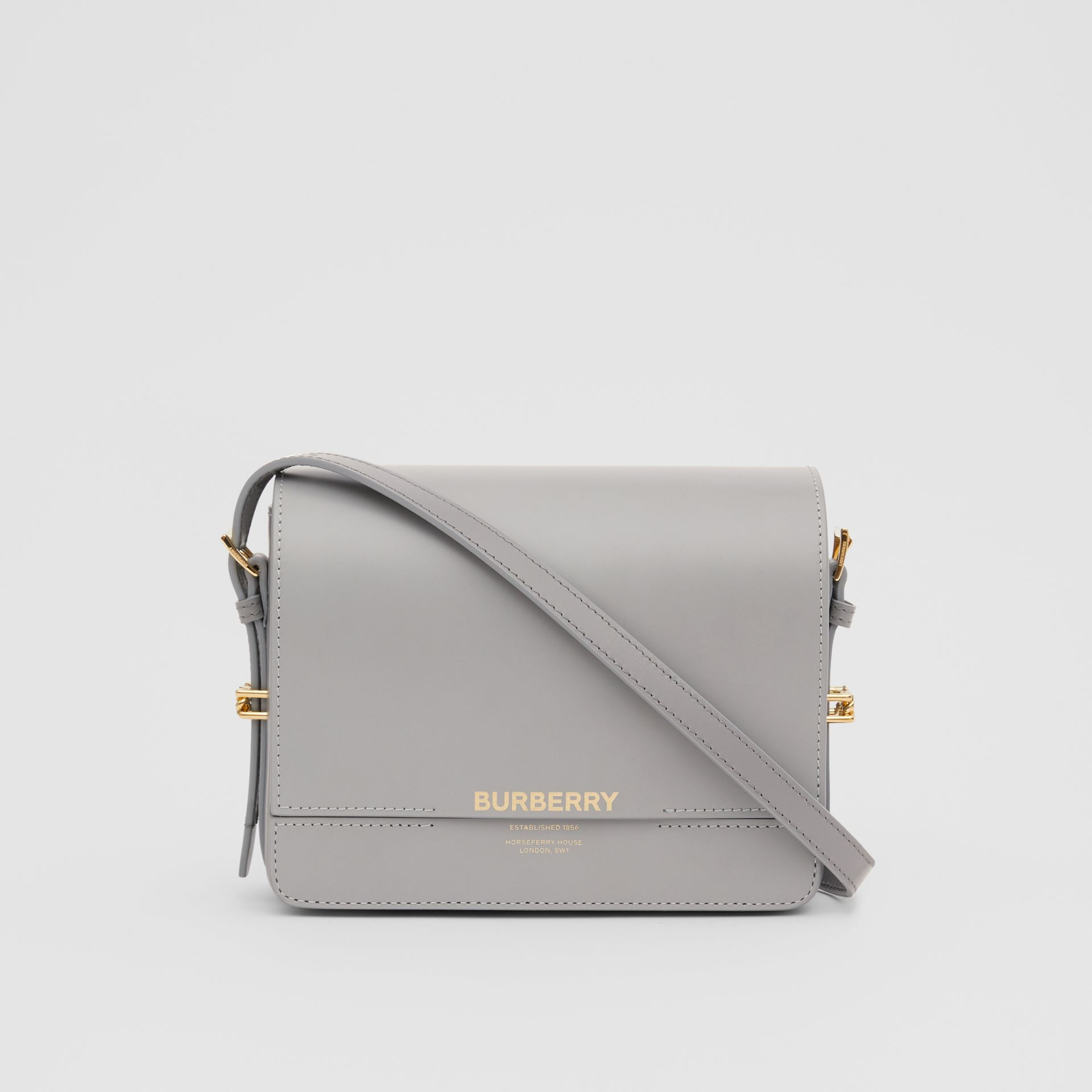 Small Two-tone Leather Grace Bag in Heather Grey/cloud Grey - Women | Burberry United Kingdom - gallery image 0